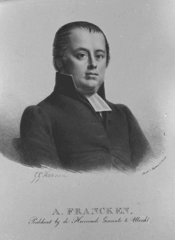 Portret van Ahasveros Francken (1791-1857)
