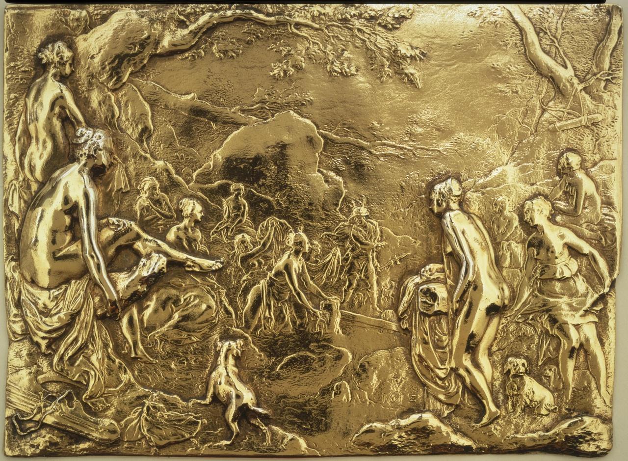 Plaquette met voorstelling van Diana en Actaeon