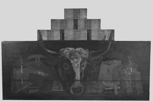 Uithangbord met koeienkop
