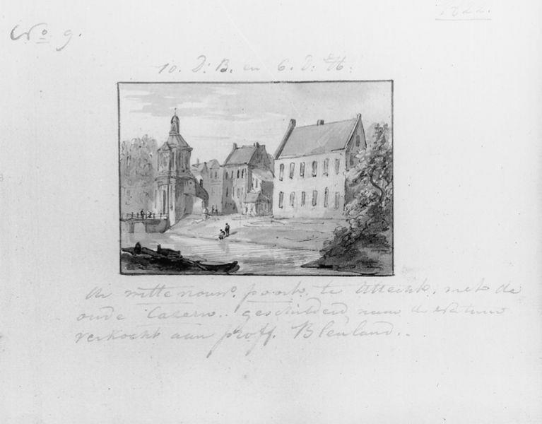 Wittevrouwenpoort met de oude kazerne te Utrecht
