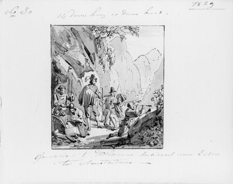 Expeditie in de bergen