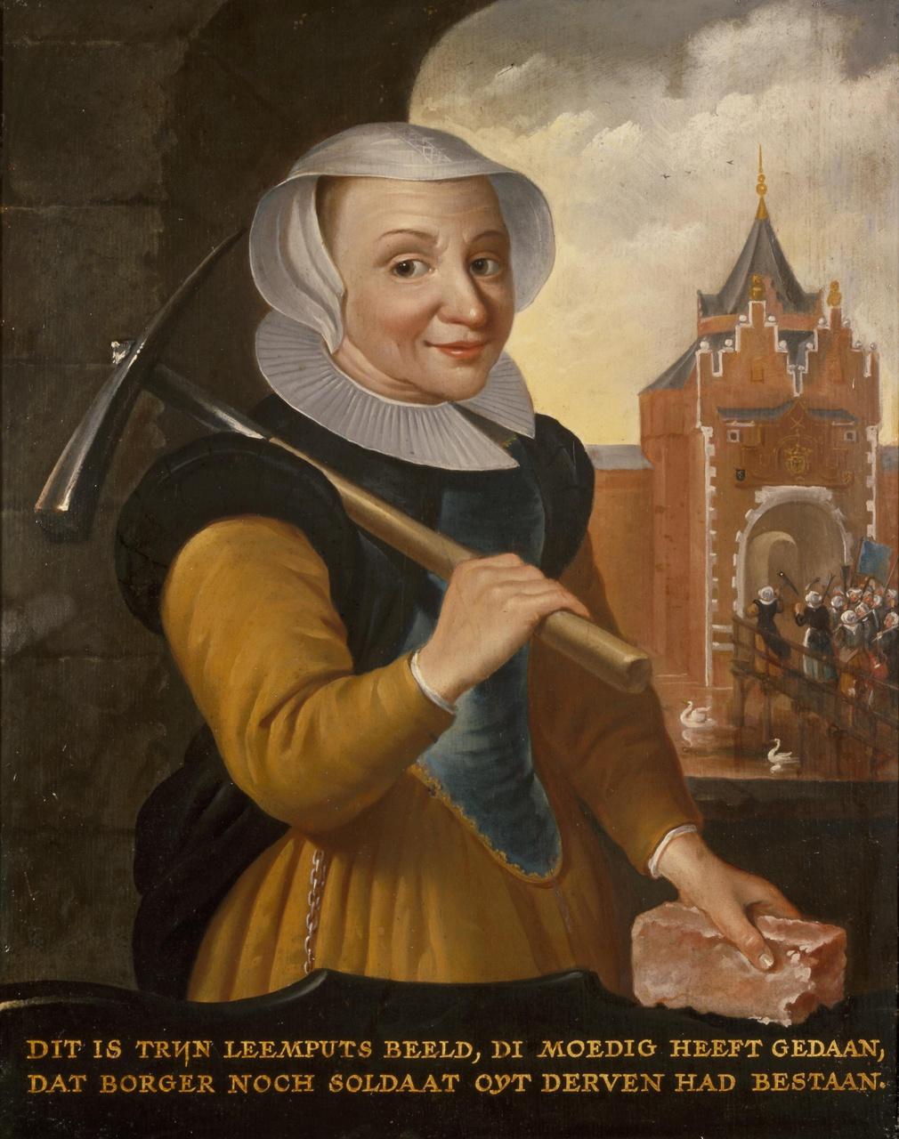 Portret van Trijn van Leemput (?-1606/1607)