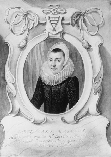 Portret van Sara Melis (Aemilius)(1594-1666), echtgenote van Cornelis van Deuverden