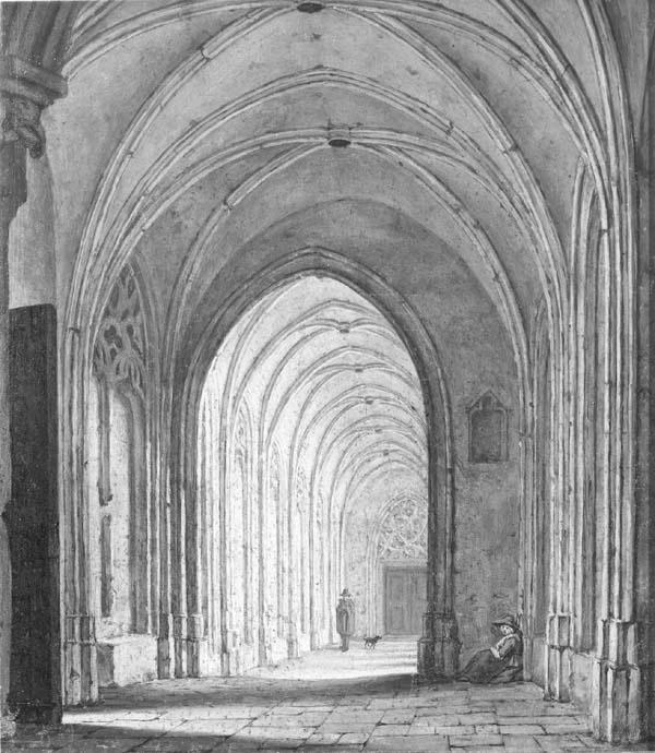 De kloostergang van de Dom te Utrecht