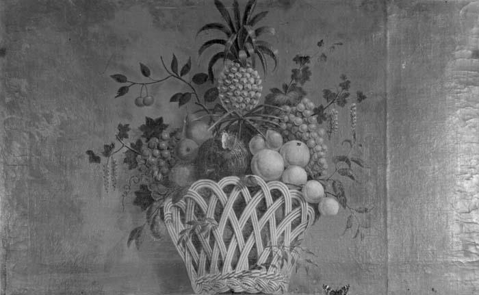 Dessus-de-porte: mand met vruchten