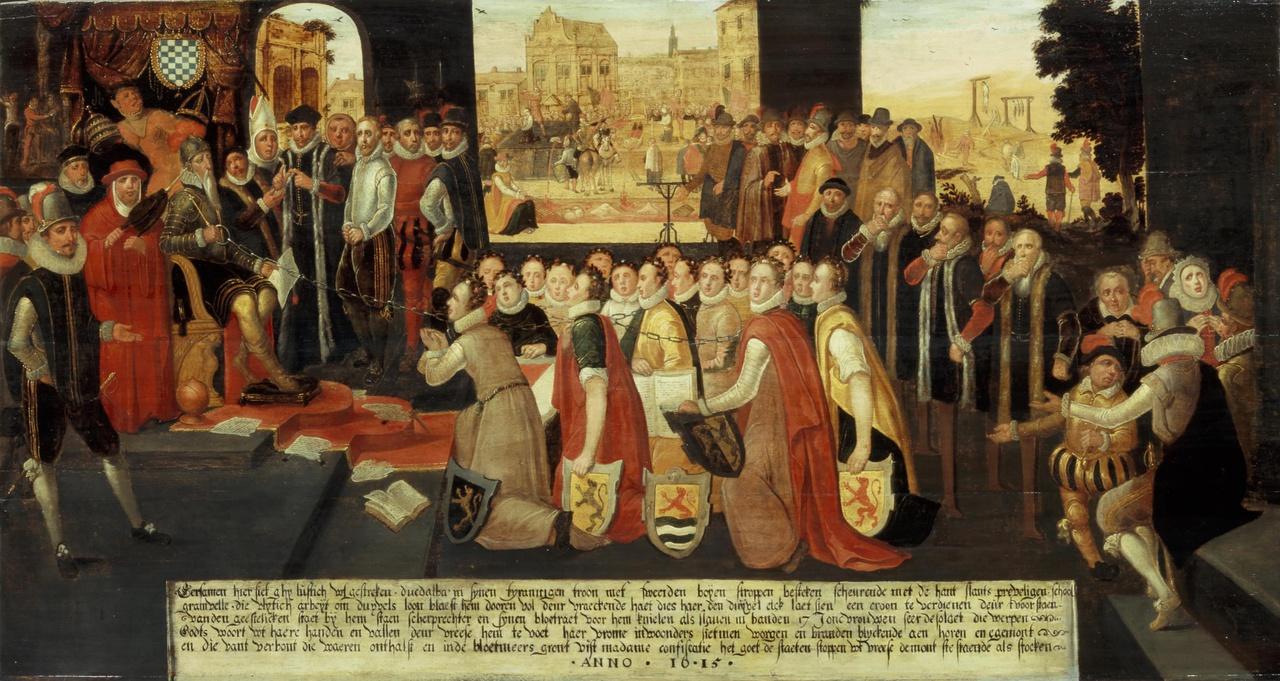 Allegorie op de tirannie van de hertog van Alva in de Nederlanden
