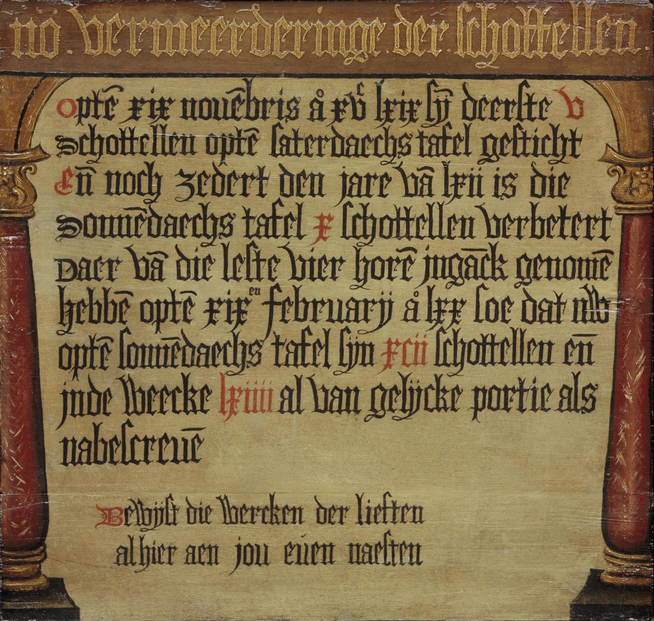Tekstbord Armenpot van St. Jacob