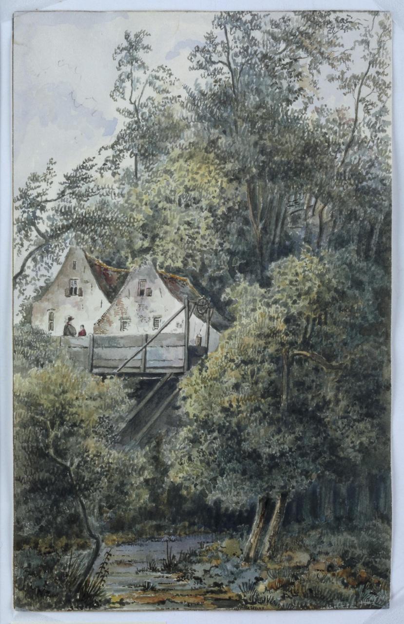 Gezicht op Sterrenburg te Utrecht