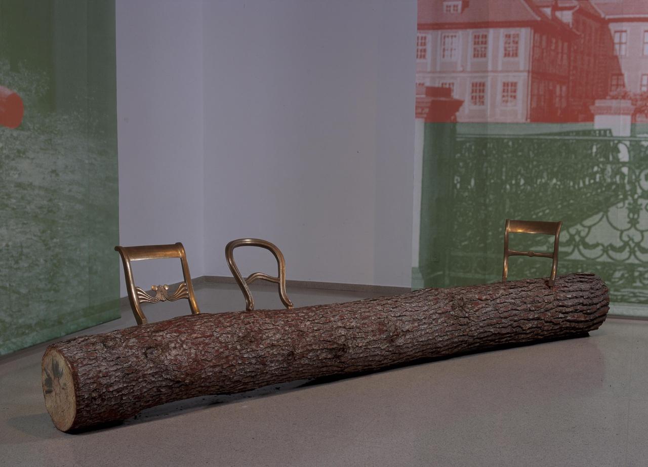 Boomstambank/Treetrunk bench
