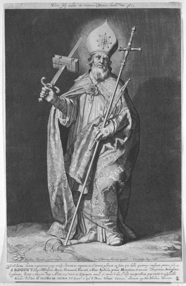 Heilige Bonifacius; de aartsbisschoppen en bisschoppen van Utrecht