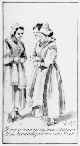Drie pratende vrouwen