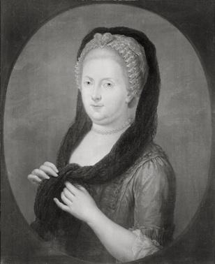Portret van Henriette Visscher (1715-1793), echtgenote van Jaque Elie de Maleprade