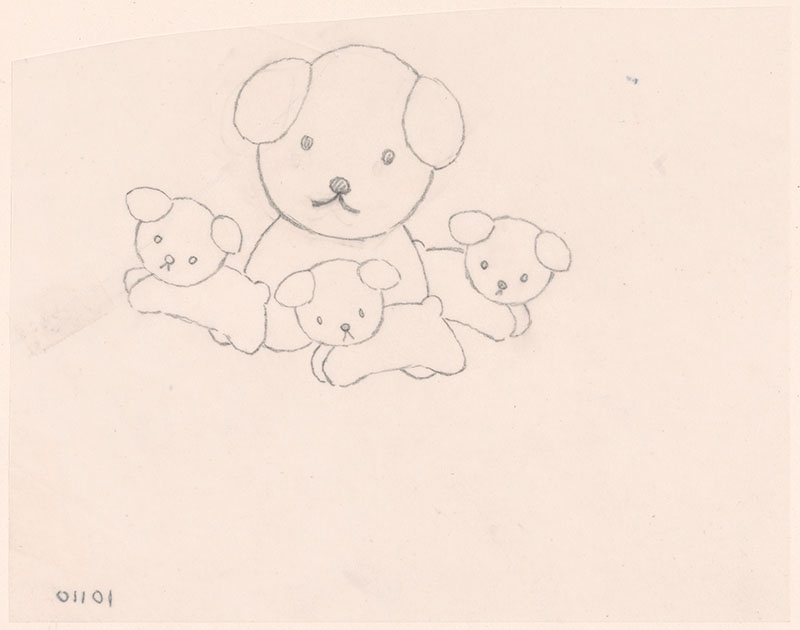 de puppies van snuffie [snuffie tussen rennnende puppies, niet opgenomen in het kinderboek]
