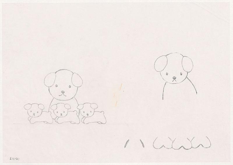 de puppies van snuffie [snuffie tussen rennnende puppies, variant, niet opgenomen in het kinderboek]