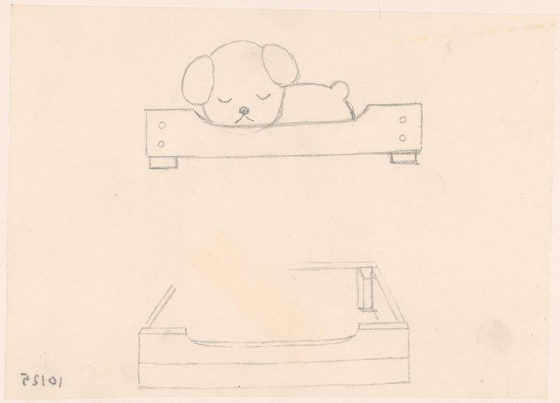 de puppies van snuffie [getimmerde hondenbak en snuffie in de bak, niet opgenomen in het kinderboek]
