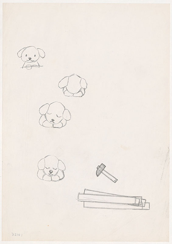 de puppies van snuffie [latten en hamer en puppies, niet opgenomen in het kinderboek]
