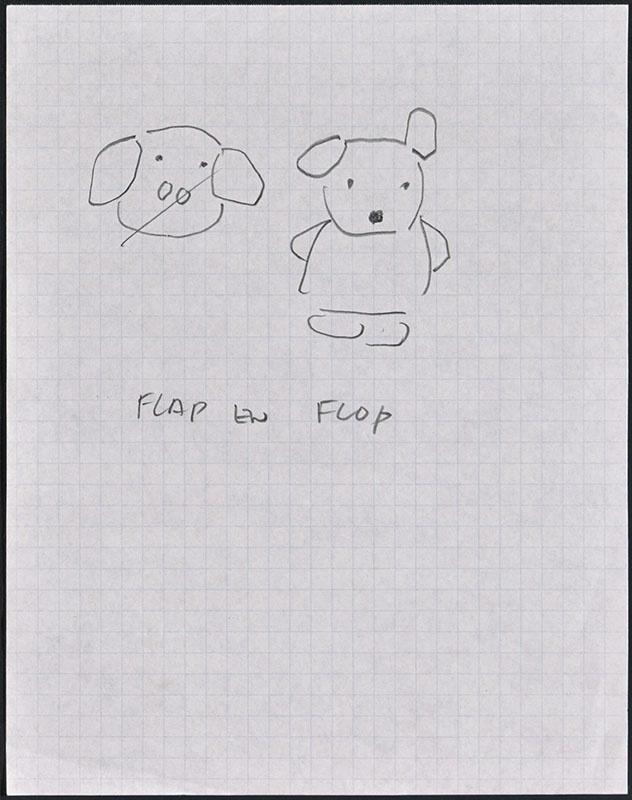 flap en flop [verband met een kinderboek is onduidelijk]