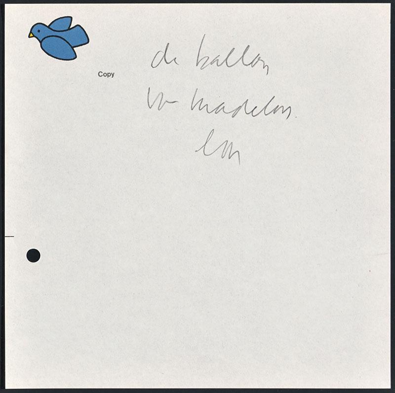 de ballon van madelon [verbandand met een bestaand kinderboek niet duidelijk]
