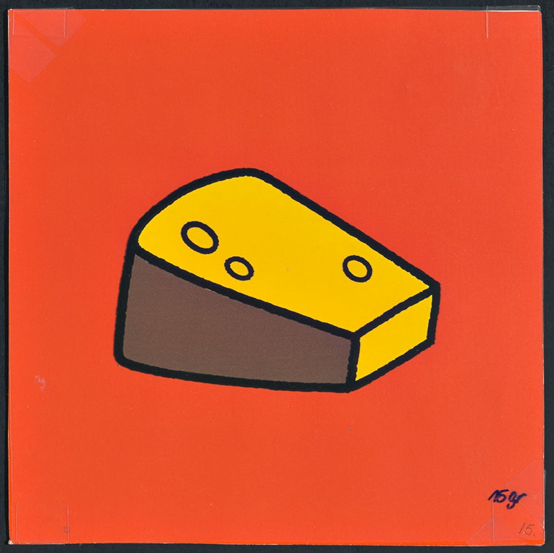 boris doet de boodschappen [een stuk kaas op p. 15 en tekst op p. 16]