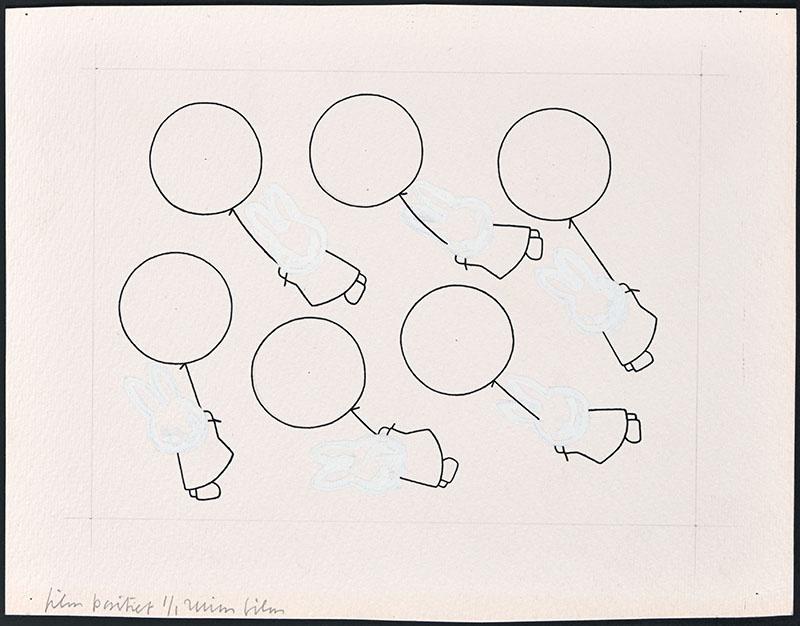 zes x  een figuur die aan een ballon hangt