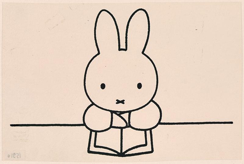 nijntje leest een boek