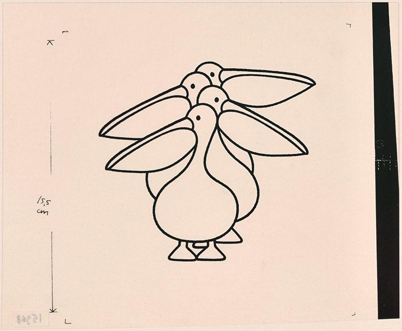 wie zijn hoed is dat? [vier pelikanen op p. 10, met als thema: 'hoeveel pelikanen zie je hier?']