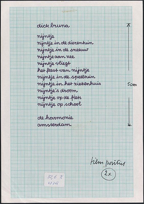 opsomming van kinderboeken uitgegeven door de Harmonie, gevestigd in Amsterdam