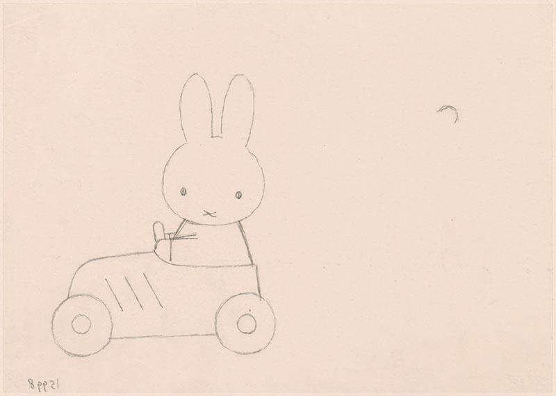 nijntje in een speelgoedauto, niet gebonden aan een kinderboek