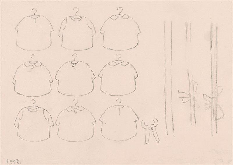 de winkel van betje big [jurken op jukjes, een schaar en linten met strikken]