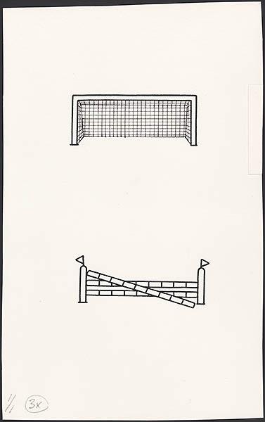sportboek [p. 4 en p. 16; voetbal, paardrijden]