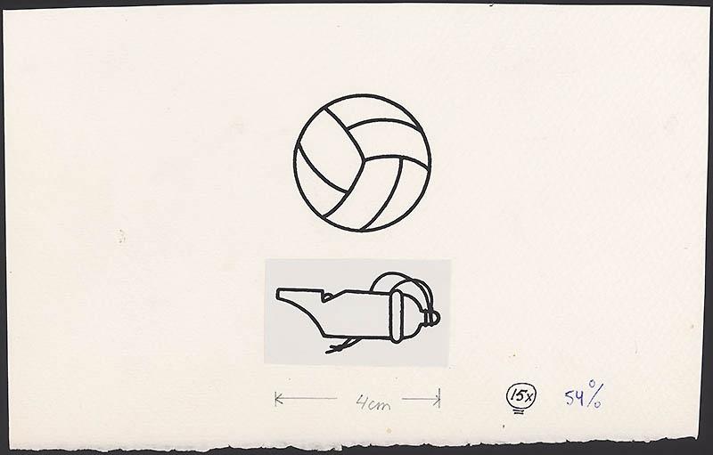 sportboek [p. 2, p. 4 en 5 fluit en voetbal]