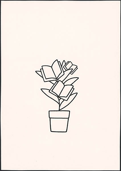 'boekenplant' [mogelijk ontworpen voor jubileumboekje voor Thieme prijs?]