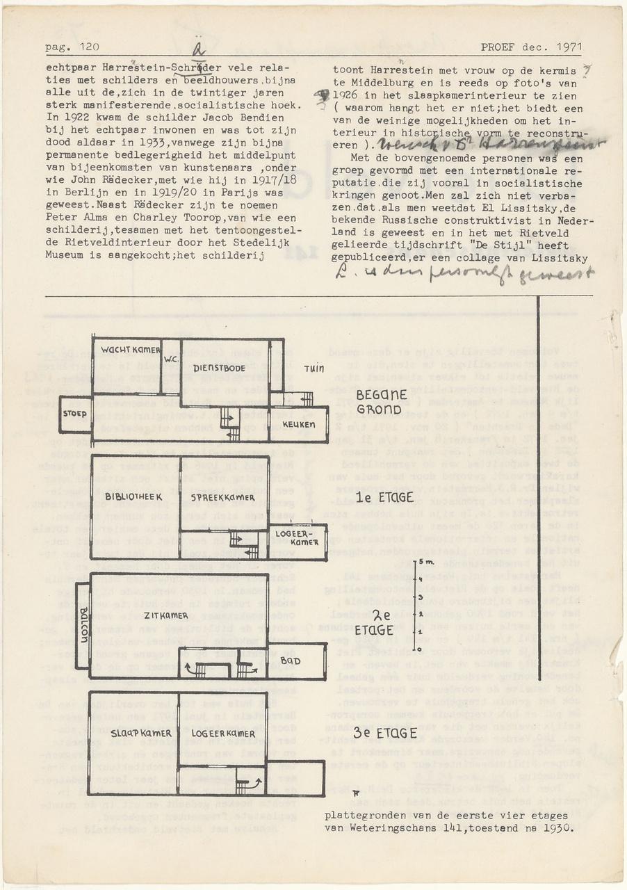 Documentatie bij verbouwing Harrenstein Weteringschans 141 Amsterdam