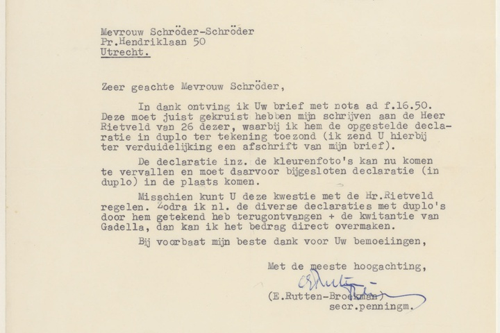 Brief van Rutten-Broekman aan T. Schröder