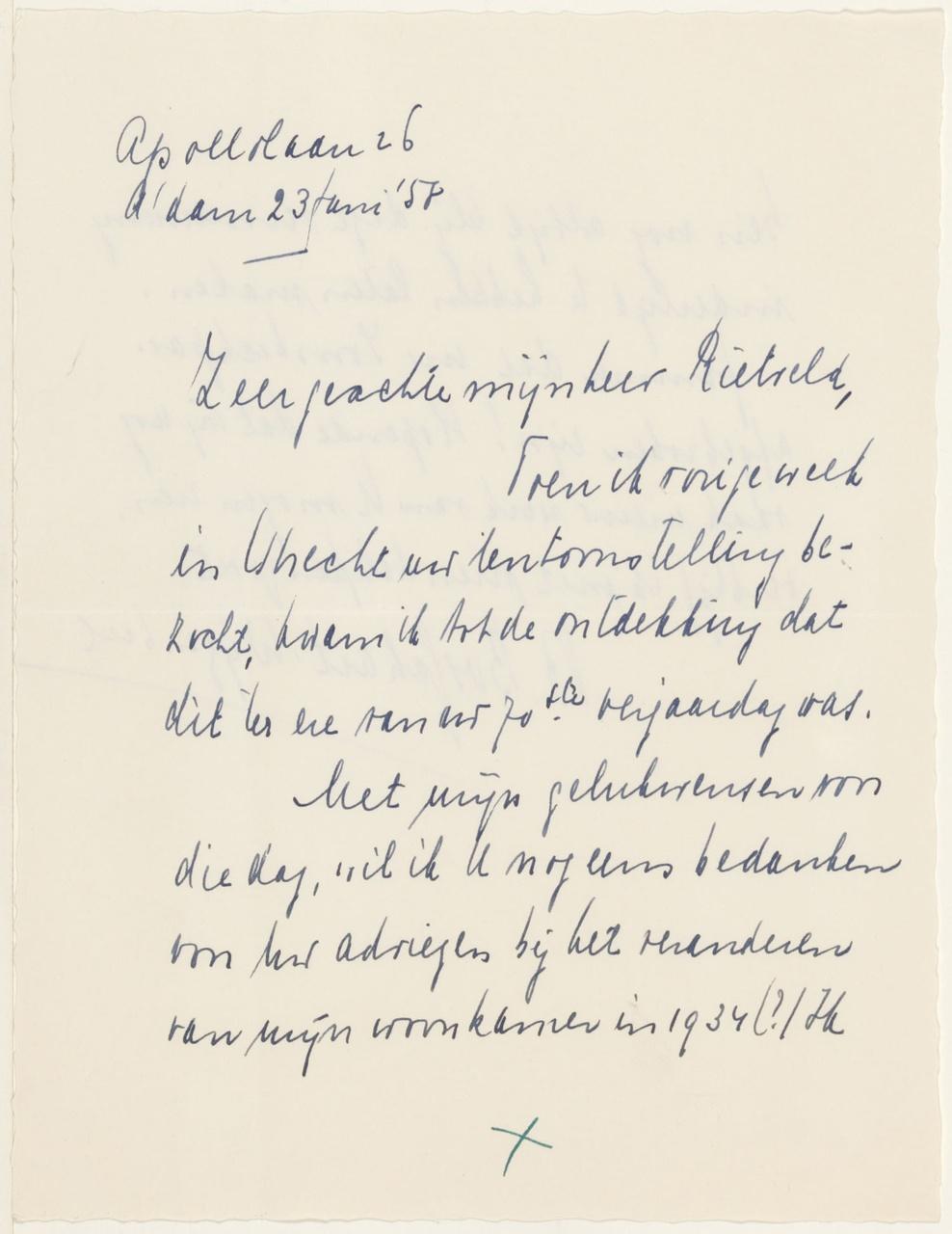 Brief van Bosschart-Wijsenbeek aan G. Rietveld