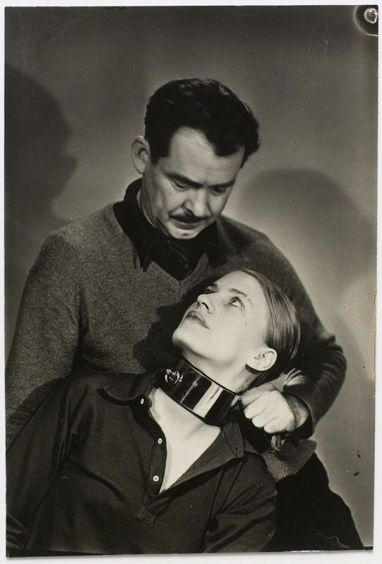 5/10 - Man Ray, Lee Miller and William Seabrook, ca. 1930.