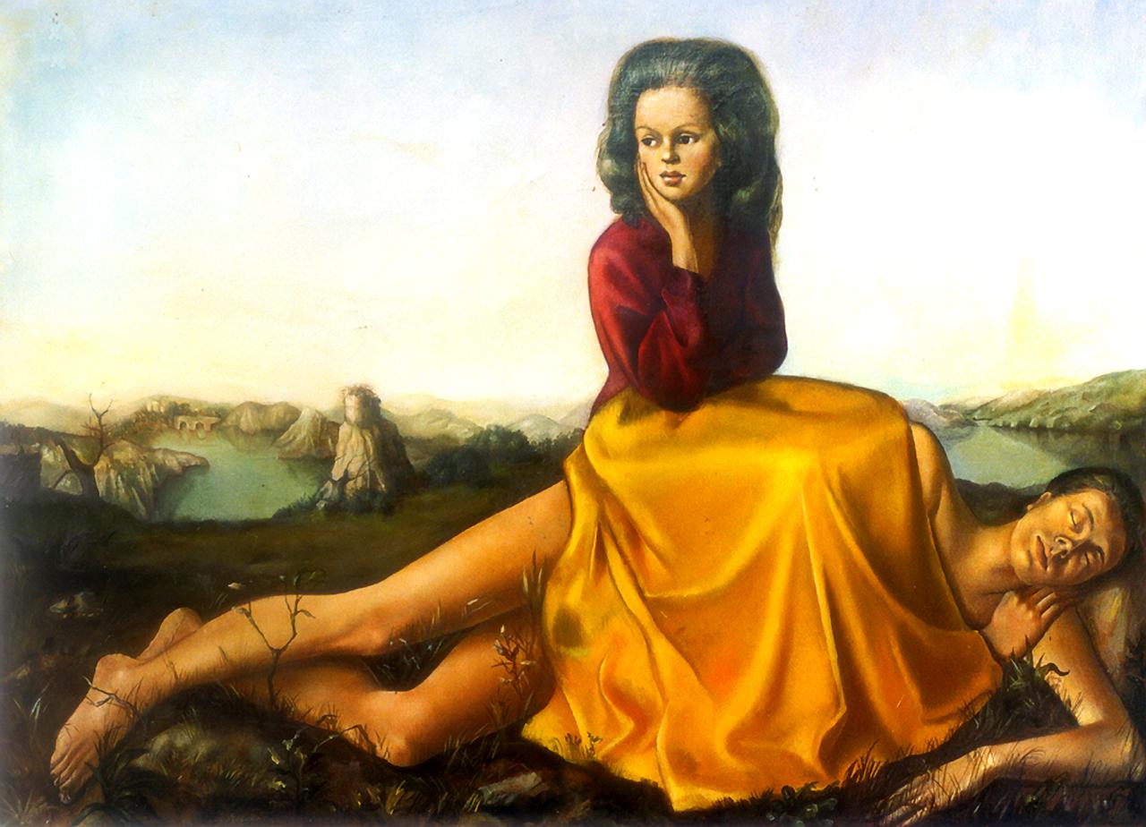 6/10 - Leonor Fini, Femme assise sur un homme nu, 1942. Foto: Leonor Fini Archives