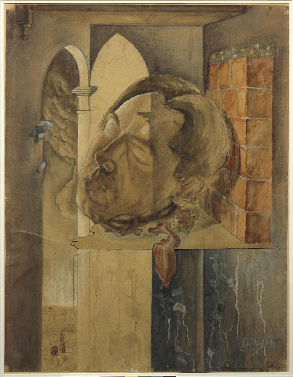 Zelfportret van de kunstenaar als het hoofd van Johannes de Doper