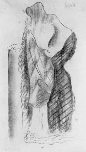 Studie van een figuur in gewaad