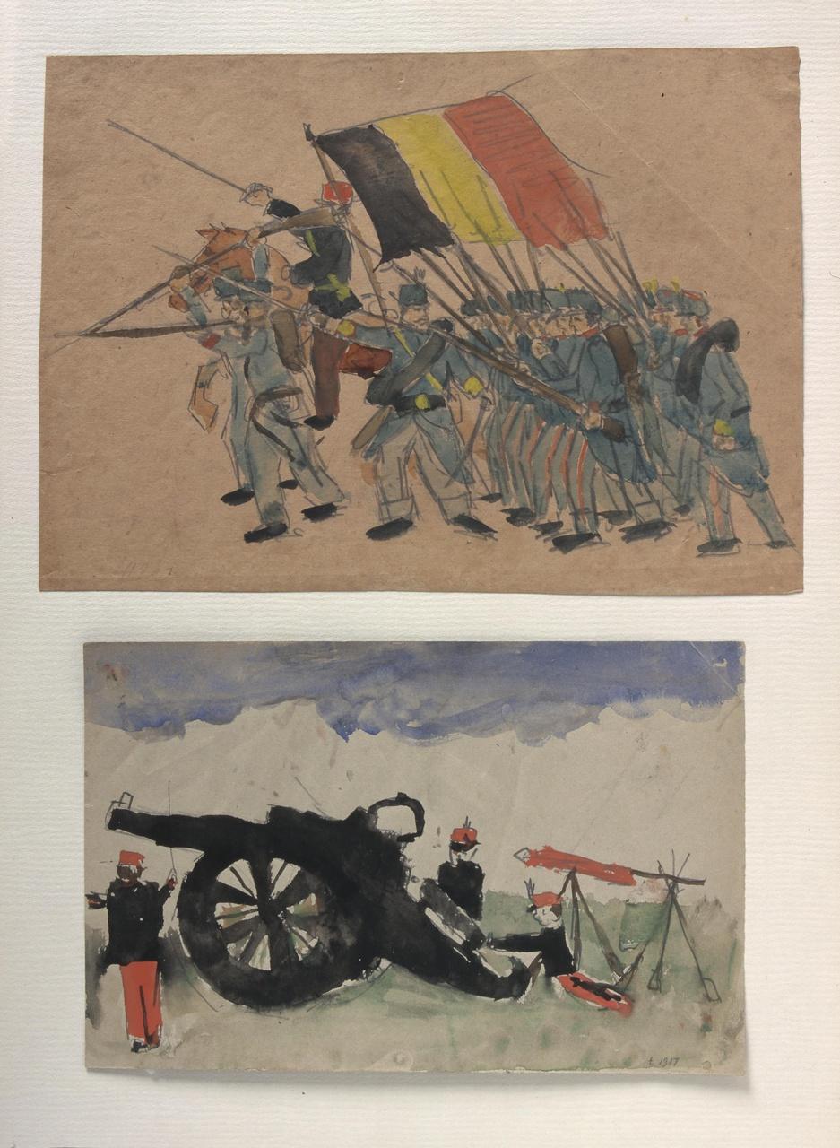 Jeugdtekening (soldaten)