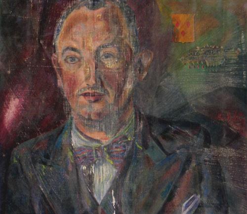 Portret van A.W.F.G. van Woerden,