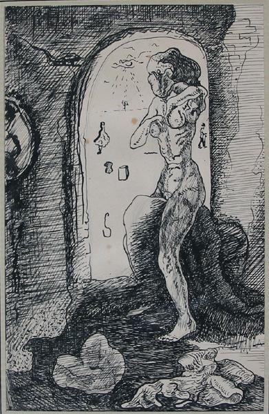 Figuur in poort