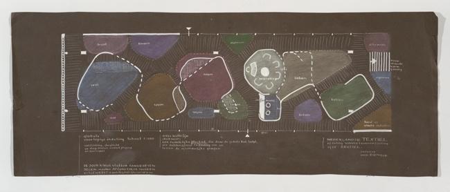 Plattegrond Textielpaviljoen Brussel 1958