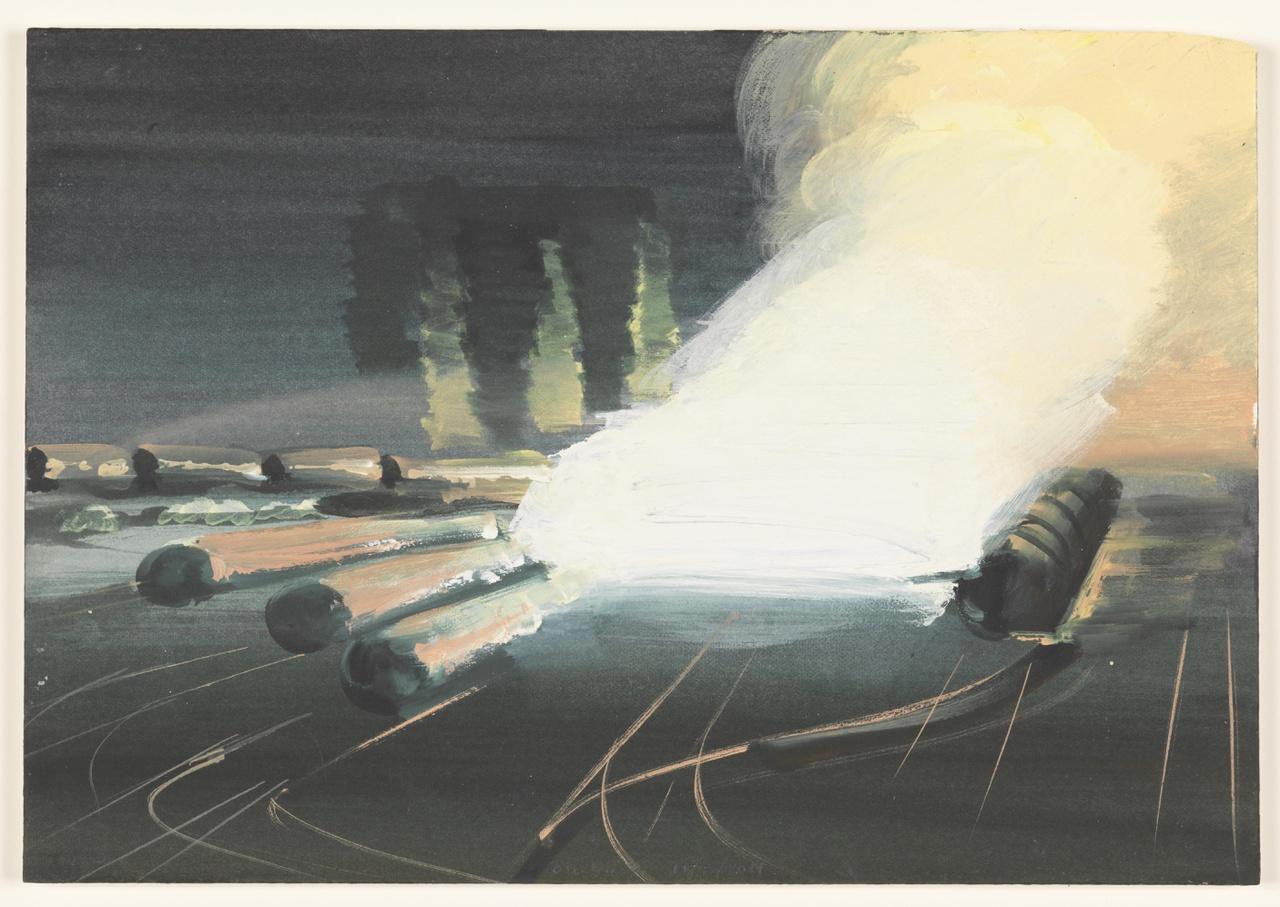 vuur 11/7/2011 (reeks: World Stress Painting, 2009-)