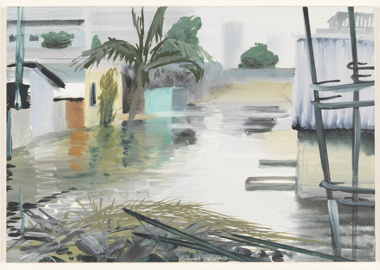 water 19/3/2012 (reeks: World Stress Painting, 2009-)