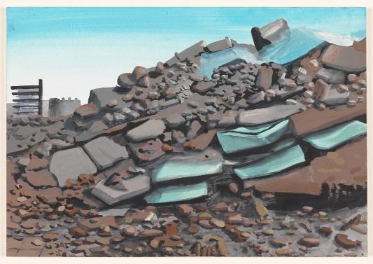 aarde 12/10/2012 (reeks: World Stress Painting, 2009-)
