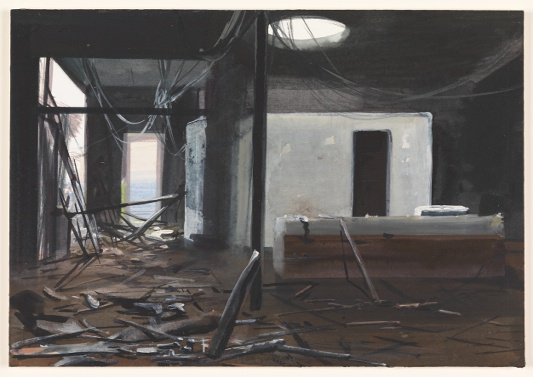 vuur 6/12/2012 (reeks: World Stress Painting, 2009-)