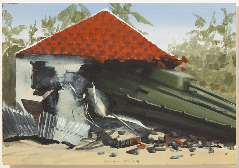 aarde 16/4/2014 (reeks: World Stress Painting, 2009-)
