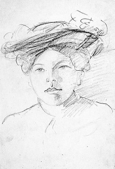 Portret van vrouw met hoed