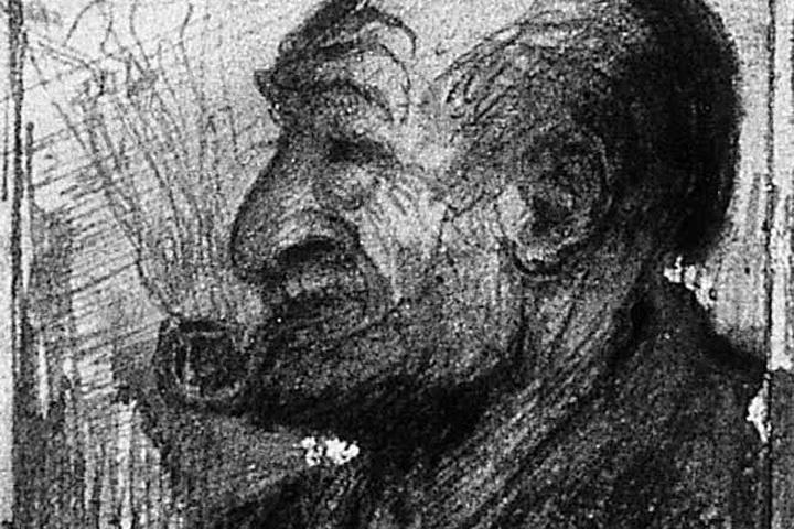 Portret van een man met pijp